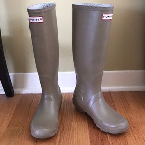 Hunter original Rain boots pale green